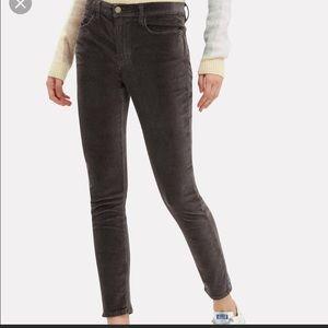 Frame Le High Skinny velvet pants sz 25